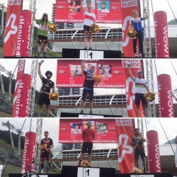 This weekend, @lesmenuires was host for the second round of the @uci_cycling Trials World Cup! These are the podiums for Elite Women, 20