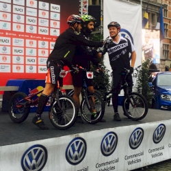 Three final riders, Mustieles, Ros & Oswald start their race in the last UCI Trials World Cup Final today for Men Elite 20